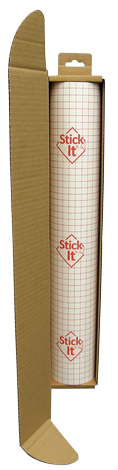 Stick-It ® - Small Roll- Self-Adhesive Lampshade Vinyl  - White - 1460mm x 500mm